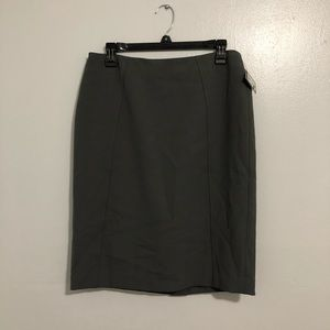 Halogen Skirts - {Halogen} Charcoal Gray Seamed Pencil Skirt